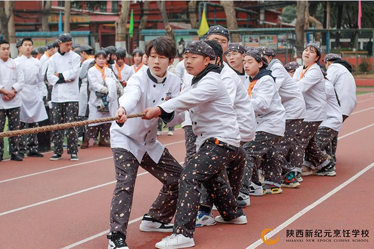 学生冬季拔河比赛